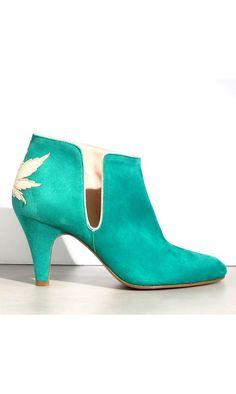 Patricia Blanchet boots Kaktus daim vert