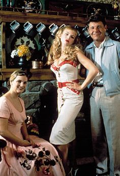 Patricia Hearst, Traci Lords and David Nelson (as Maggie, Wanda and Hector Woodward) in John Waters' Cry-Baby, 1990