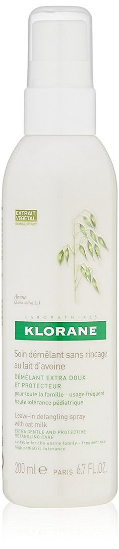 Klorane Leave-In Detangling Spray with Oat Milk - All Hair Types , 6.7 fl. oz. *** This is an Amazon Affiliate link. Visit the image link more details.