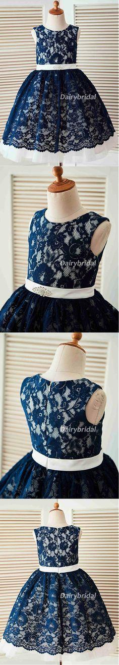 Lace Tulle Flower Girl Dresses, Cheap Lovely Little Girl Dresses, DA985 #dairybridal
