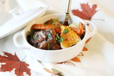 This Oxtail Stew is rich and robust, and braising it very slowly tenderizes it completely. The fruity sweetness from the orange complements the dish.