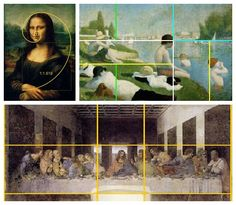 Golden Ratio as seen in famous paintings post about teaching kids this art/math concept.