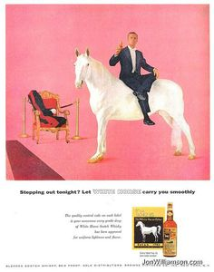 this is pretty surreal.  White Horse ad.