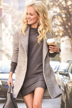 Love the outfit. If only the coat was a full long sleeve it be perfect :)