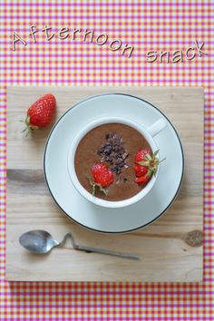 Chocolat cru & fraises