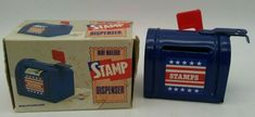 STAMP ROLL DISPENSER Vintage Mailbox w/ Flag USPS US Postal Service MIB Metal Vintage Mailbox, Us Postal Service, Writing Pens, Desk Accessories, Office Desk, Stamp, Metal, Desktop Accessories