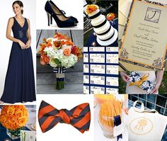 Image Detail for - Orange and Navy Wedding Inspiration :: Groom Sold Separately . Chic Wedding, Wedding Trends, Our Wedding, Dream Wedding, Wedding Ideas, Wedding Bells, Wedding Stuff, Wedding Summer, Wedding 2015