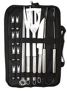 CookWithTech  FLASH SALE  18 Piece Barbecue Tool Set with Case  The Best Grill Tool Accessories Set  Lightweight and Strong -- Be sure to check out this awesome product.Note:It is affiliate link to Amazon.