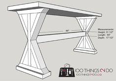 DIY Entryway Table / Sofa Table