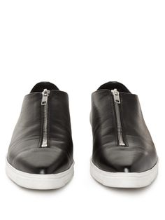 Zip-front point-toe faux-leather flats   Stella McCartney   MATCHESFASHION.COM