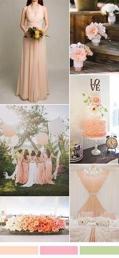 trending rose wedding color ideas for season 2016-2017