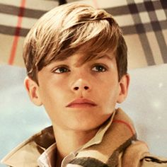 Could He Be Any Cuter? Romeo Beckham Stars in Burberry's Holiday Campaign #InStyle - pinned for the haircut!