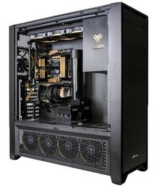Yoyotech has water-cooled the PC so it runs at near-silent levels and cooler than any air-cooled PC