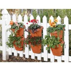 Bloem Terra Cotta Hanging Garden Plastic Planter System - The Home Depot