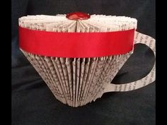 BOOK FOLDING. BOOK ART. A TEA CUP - YouTube