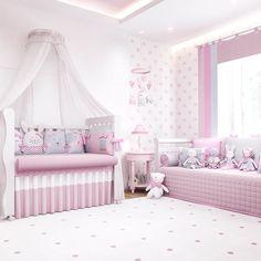 O Quarto de Bebê Amiguinhas traz um conceito invador para a decoração de quarto de bebê rosa! Essas amiguinhas vão decorar e proteger sua bebê com todos esses acessórios incríveis!