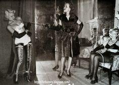 Irving Klaw models Vicki Hayes Lynn Lykles Rose Erna