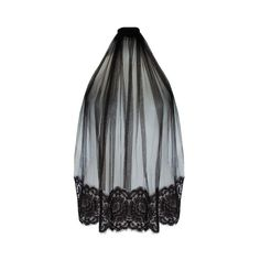 Loveday London Amoria Boudoir Veil (1.815 NOK) ❤ liked on Polyvore featuring accessories, veils and black