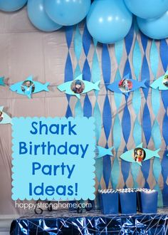 Shark Birthday Party Ideas from party food, party decor, DIY garlands, and birthday cake ideas! #sponsored @orientaltrading @safariltd @surfsweets