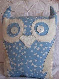Owl cushion handmade by CoushiCreations on Etsy, $35.00