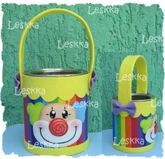 colorido cotillón Kids Crafts, Clown Crafts, Foam Crafts, Diy And Crafts, Carnival Birthday Parties, Circus Birthday, Circus Theme, Circus Party, Formula Can Crafts