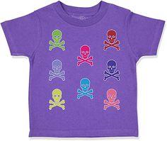 Custom Toddler T-Shirt Skulls Funny Humor Cotton Boy & Girl Clothes Kids Outfits Girls, Toddler Outfits, Baby Boy Outfits, Baby Shirts, Shirts For Girls, Kids Shirts, Gender Neutral Baby Clothes, Toddler Gifts, Free Range