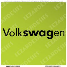 Sticker volkSWAGen (SWAG)