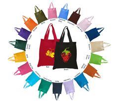 "6 oz. cotton tote bag with handles  6 oz. Cotton Sheeting Tote Bag Cotton Handles Dimensions: 15""W x 16""H"