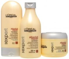 LOVE these hair products - The shampoo is my fave! Loreal Absolut Repair with lactic acid.