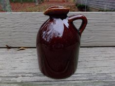 Circa 1950 Little Brown Jug Vintage Pottery   offered by #rubylane shop Saltymaggie's Treasures
