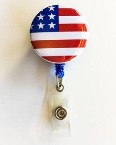 Custom Kansas Flag Badge Reel Retractable ID Name Card State Badge Holder