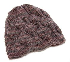 Embossed Leaves Hat For Straight Needles By Heather Tucker - Free Knitted Pattern - (ravelry)