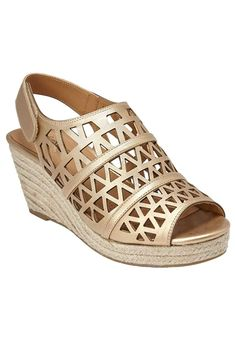 a960e43176fd1f Comfortview Women s Wide Karen Wedge Sandals. Transition your traditional look  with this trendy wedge sandal