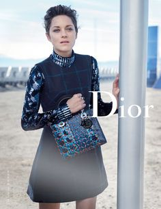 Back to the future for the New Lady Dior FW 2015 2016 shot by Peter Lindbergh l #LadyDior #MarionCotillard #adcampaign