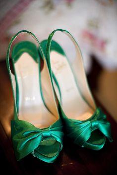 Magnolia Wedding By Sharon Nicole Photography Emerald Green ShoesEmerald