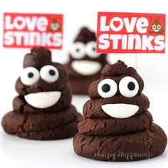 Poke some fun at Valentine's Day by passing out Chocolate Caramel Fudge Smiling Poo Emoji to your friends who believe that love stinks. Watch the video tutorial to see how easy it is to turn a 2-ingredient recipe into one of the most popular emoji on the planet.