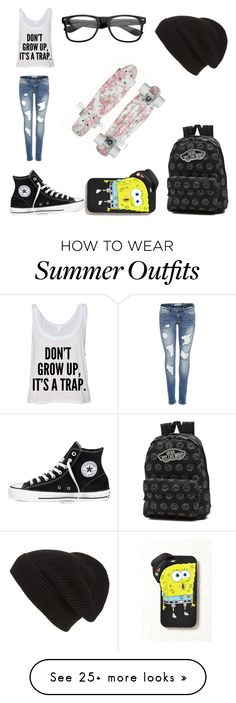 """""""DON'T GROW UP"""" by candygirl156 on Polyvore featuring Converse, Phase 3, Vans and Forever 21"""