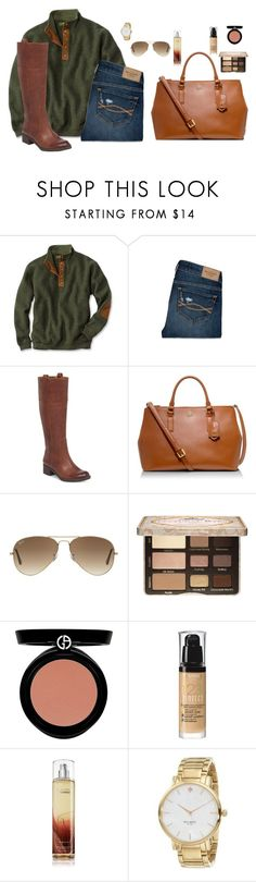 """""""A fall day"""" by sc-prep-girl ❤ liked on Polyvore featuring Abercrombie & Fitch, Lucky Brand, Tory Burch, Ray-Ban, Too Faced Cosmetics, Giorgio Armani, Bourjois and Kate Spade"""