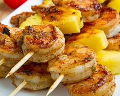 Grilled Shrimp and Pineapple Skewers #Contest