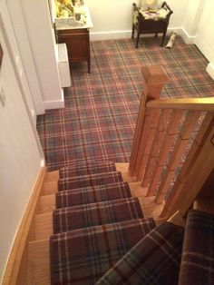 Most current Pictures tartan Carpet Stairs Style Among the fastest ways to revam. Most current Pictures tartan Carpet Stairs Style Among the fastest ways to revamp your tired old st Wall Carpet, Diy Carpet, Carpet Stairs, Bedroom Carpet, Carpet Ideas, Outdoor Carpet, Hallway Carpet Runners, Cheap Carpet Runners, Stair Runners