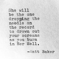 Matt Baker. Deeeepppp