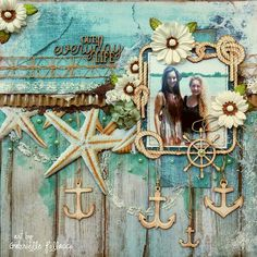 NEW Beachy Page Kit {The Scrapbook Diaries}