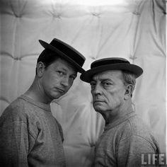 Donald O'Connor & Buster Keaton, 1950s.