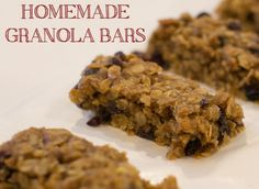 Pecan Cranberry Granola Bars | The Creative Mama | Jenn Rutledge | delicious homemade goodness