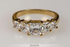 Johanna Five Stone Engagement Ring   2 Carat   Cubic Zirconia   18k Gold