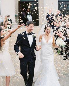 Classic Wedding from Brett Heidebrecht - Southern Weddings Magazine Wedding Send Off, Wedding Exits, Trendy Wedding, Wedding Bells, Dream Wedding, Wedding Church, Wedding Ceremony, Wedding Unique, Table Wedding