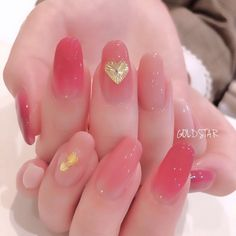 Cute Nail Art, Cute Nails, Pretty Nails, Nail Manicure, Gel Nails, Korean Nail Art, Korean Nails, Soft Nails, Uñas Fashion