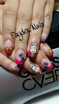 Creative Nail Designs, Pretty Nail Designs, Toe Nail Designs, Creative Nails, Cute Nail Art, Beautiful Nail Art, Toe Nails, Manicure And Pedicure, Bright Nails