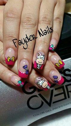 Creative Nail Designs, Pretty Nail Designs, Toe Nail Designs, Cute Nail Art, Beautiful Nail Art, Bright Nails, French Tip Nails, Nail Decorations, Manicure And Pedicure