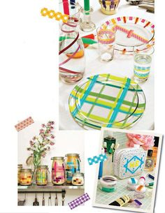Colors, Food and Washi Tape. Just do it!